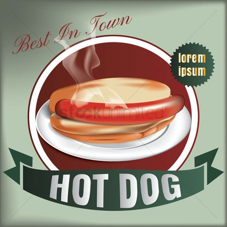复古 : Best in town hot dog design