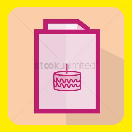 请帖 : Birthday card