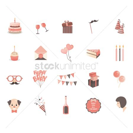 请帖 : Birthday icons