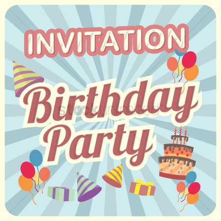 庆典 : Birthday invitation