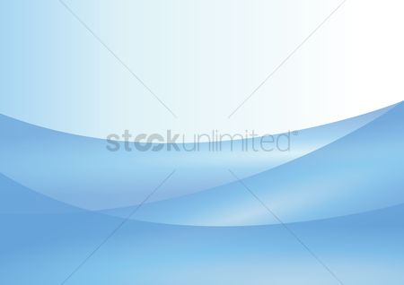 波 : Blue curves with white background