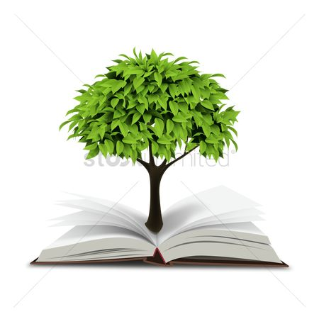 向量 : Book with tree