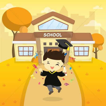 庆典 : Boy graduated from school
