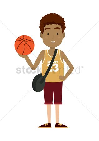运动员 : Boy holding basketball