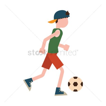 运动员 : Boy playing football