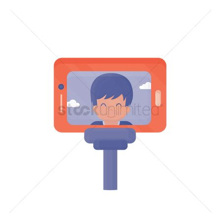 技术 : Boy taking a selfie with a smartphone
