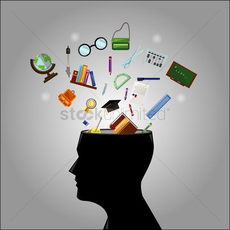学校 : Brain education concept