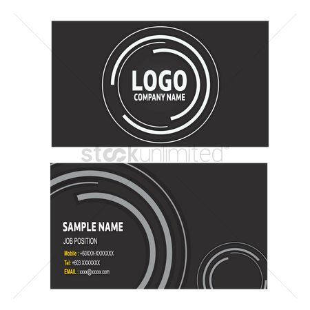 商业 : Business card template