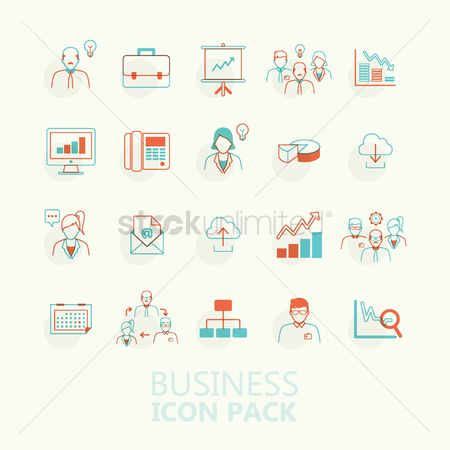 向量 : Business icon pack