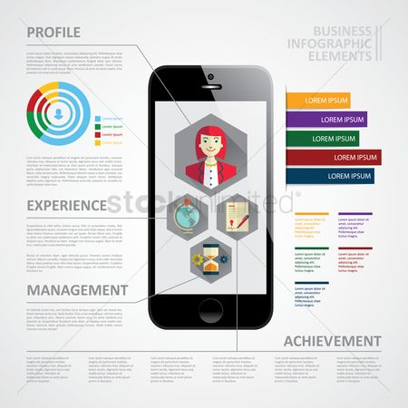 图标 : Business infographic elements