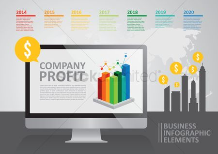 业务金融 : Business infographic elements
