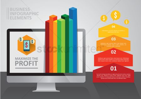 向量 : Business infographic elements