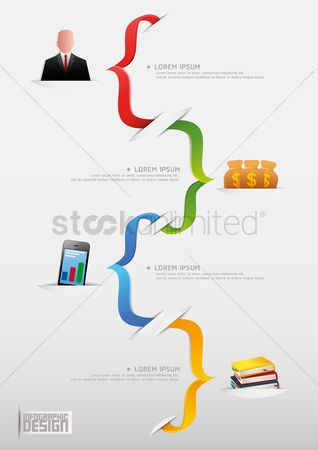 色带 : Business infographic
