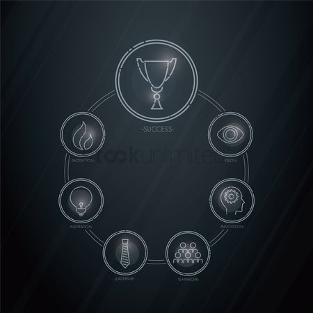 动机 : Business strategy icons set