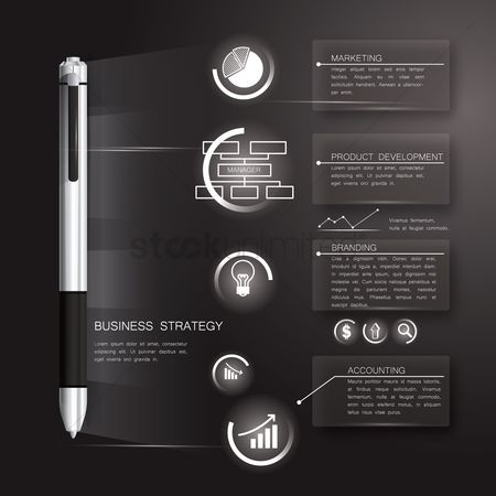 信息图表 : Business strategy infographic