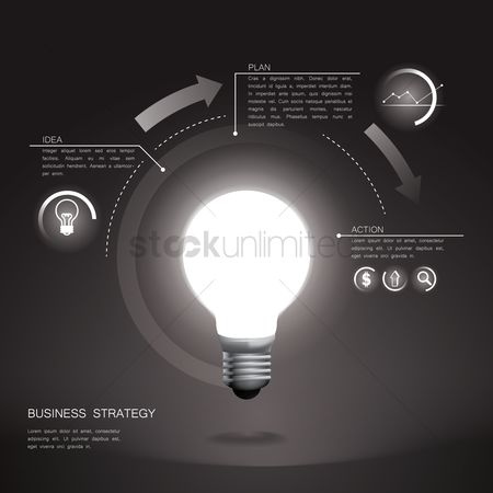 业务 : Business strategy infographic