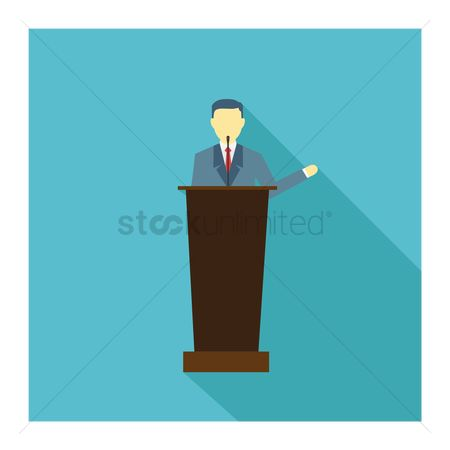商业 : Businessman giving a speech