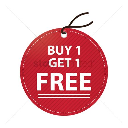 向量 : Buy one get one free tag