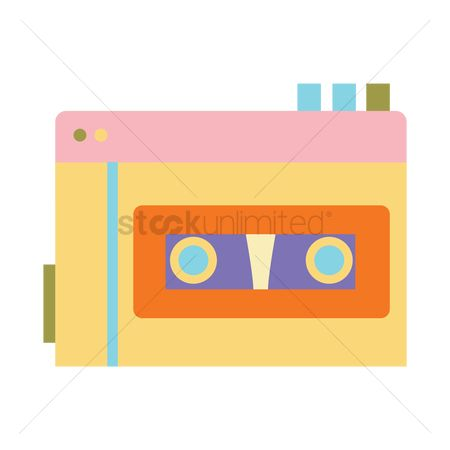 葡萄收获期 : Cassette tape player