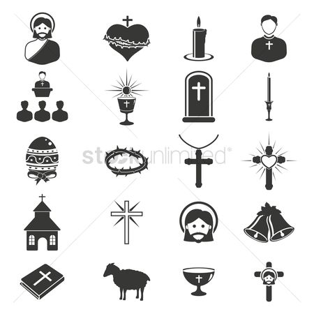 色带 : Catholic religion icons