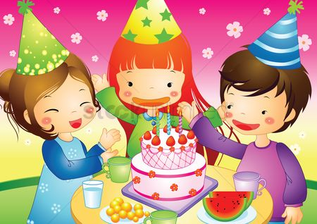 孩子 : Children having a party