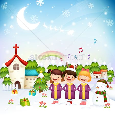 孩子 : Children singing christmas carols