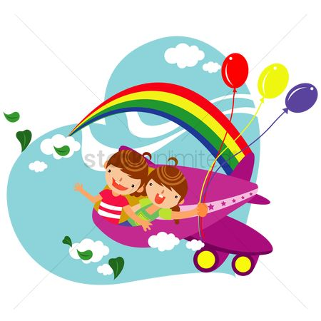 孩子 : Children travelling by airplane