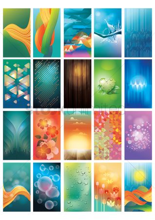 花色 : Collection of abstract designs