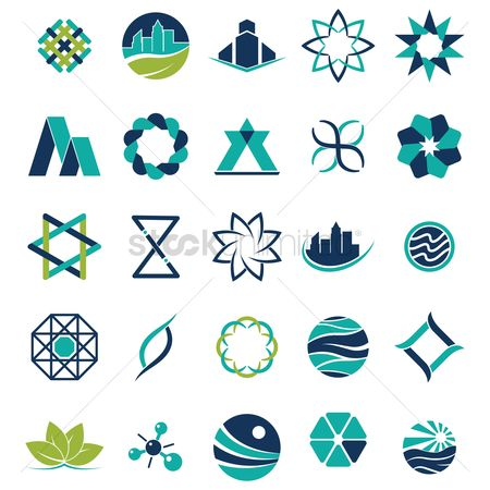 图标 : Collection of abstract icons