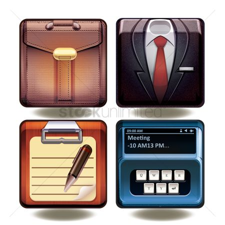 处理 : Collection of business icons