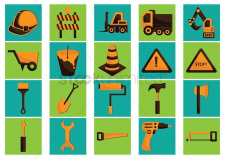 垃圾 : Collection of construction icons
