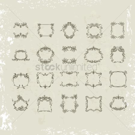 复古 : Collection of decorative frames