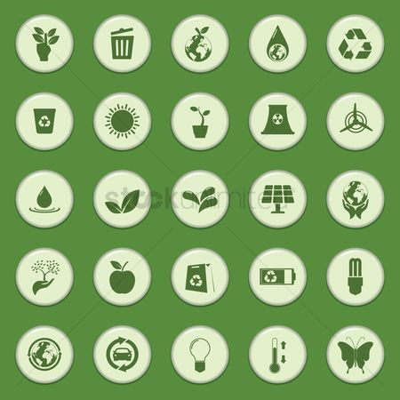 环境 : Collection of eco icons