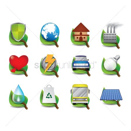 水 : Collection of ecological icons