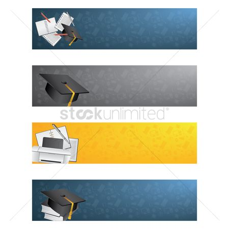 横幅 : Collection of education banners