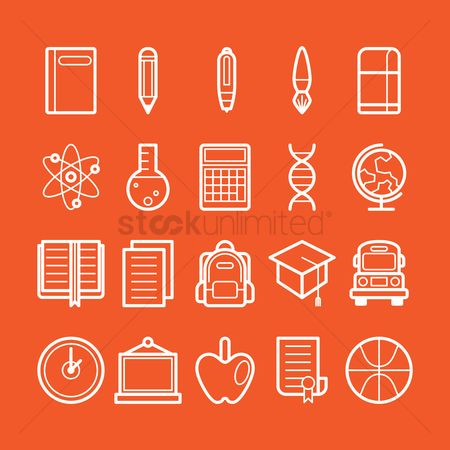 学校 : Collection of education icons