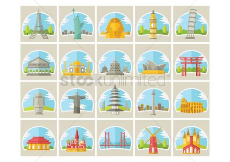 搜藏 : Collection of famous landmarks