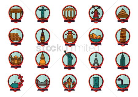 房屋地标 : Collection of famous landmarks
