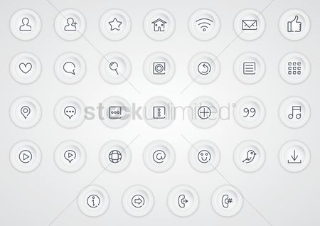 心脏 : Collection of media icons