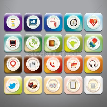 体育 : Collection of mobile application icons