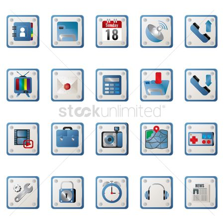 消息 : Collection of mobile icon