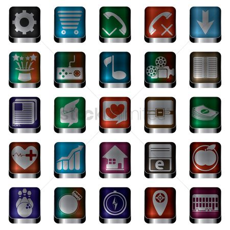 消息 : Collection of mobile icons