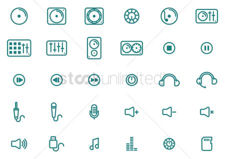 复古 : Collection of music icons