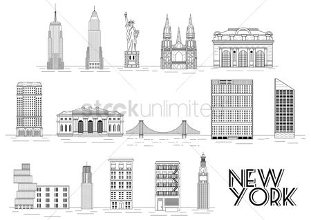 房屋地标 : Collection of new york attractions