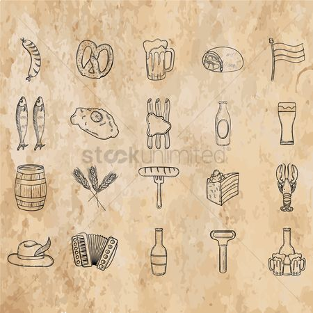 复古 : Collection of octoberfest icons