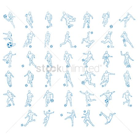 体育 : Collection of soccer players