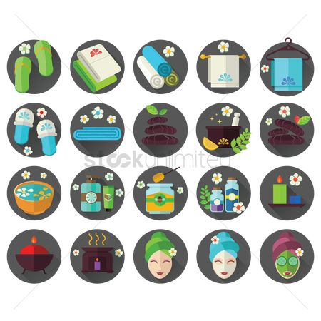花 : Collection of spa icons