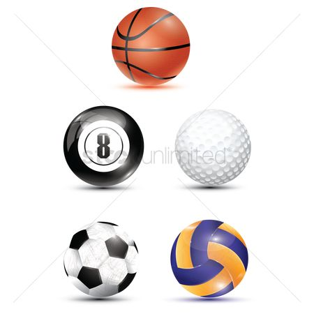 搜藏 : Collection of sports balls