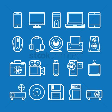卡 : Collection of technology icons