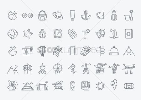 水 : Collection of travel icons